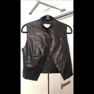354d9a0ea94fe Public School New York Lambskin Leather Vest S